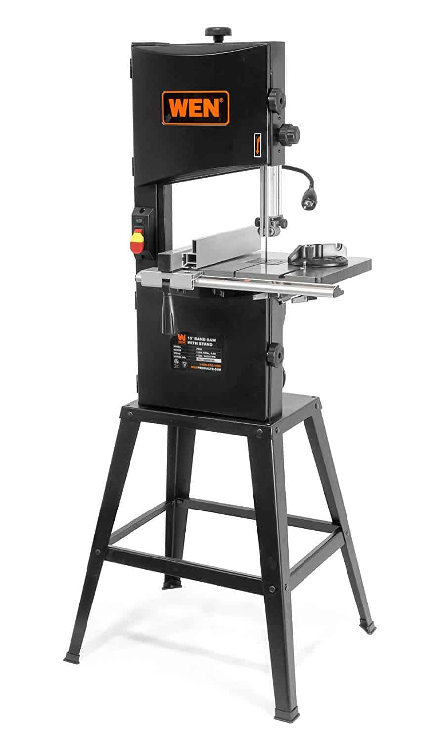 WEN 3962 Two-Speed Band Saw with Stand and Worklight, 10