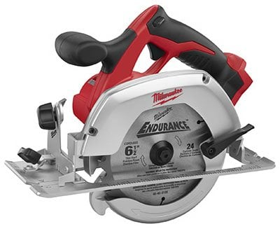 Milwaukee M18 2630-20 18 Volt Lithium Ion 6-1-2 3,500 RPM Cordless Circular Saw w Magnesium Guards and Included 24-Tooth Carbide Wood Cutting Blade