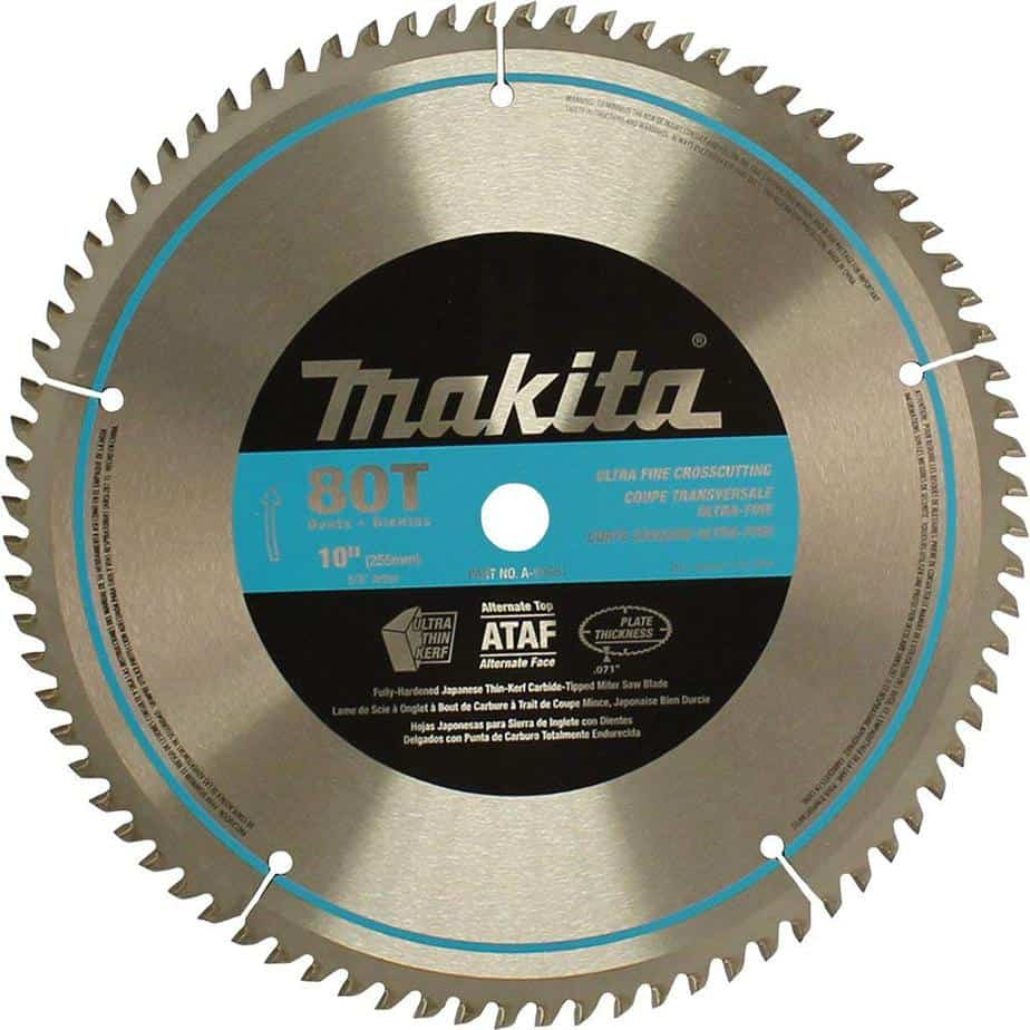 Makita A-93681 10-Inch 80 Tooth Micro Polished Miter saw blade