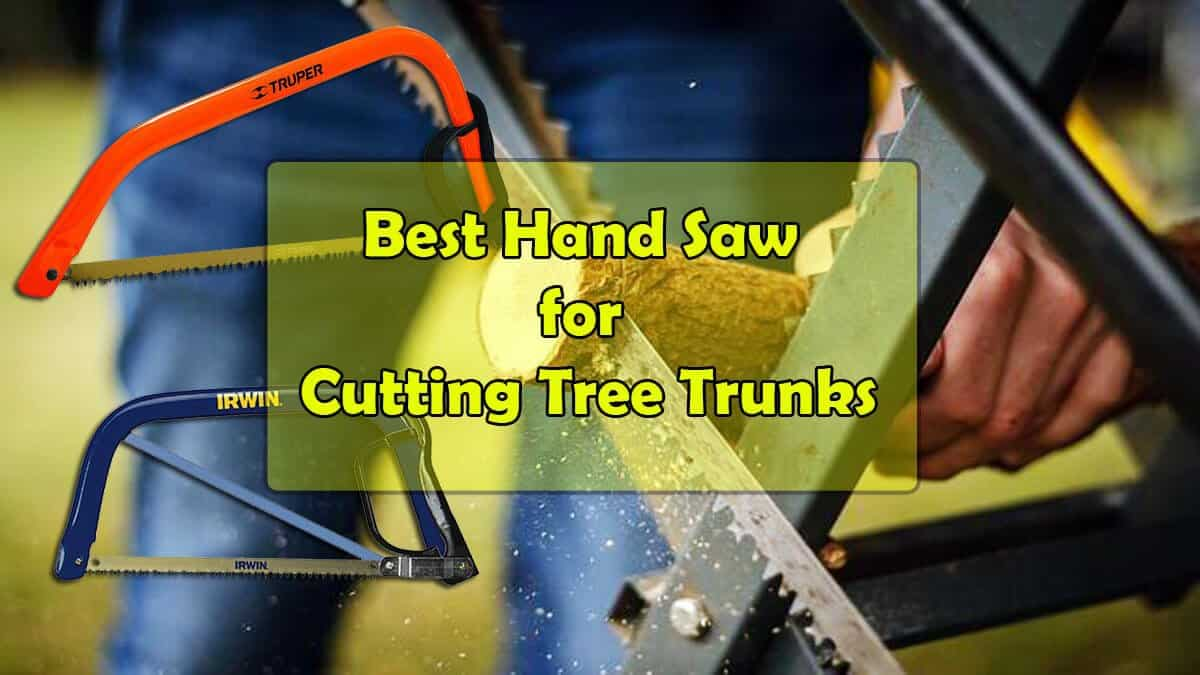 Best Hand Saw for Cutting Tree Trunks