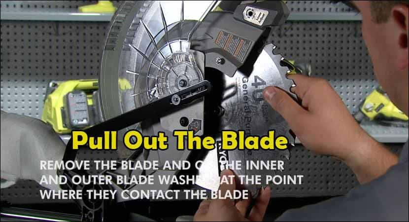 Pull out the blade