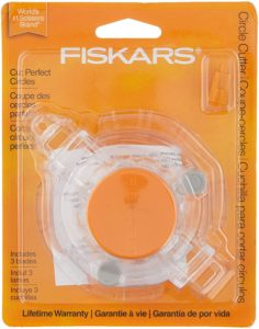 Fiskars 193800-1001 Circle Cutter with 2 Replacement Blades